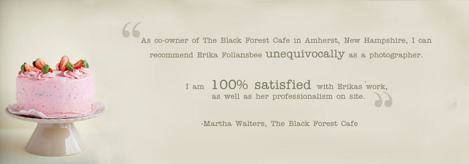 Testimonial from The Black Forest Cafe