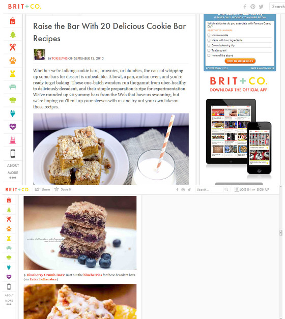 Recipe Featured on Brit + Co