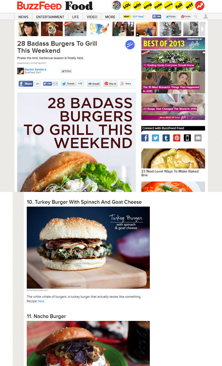 Buzzfeed: 28 badass burgers to grill this weekend