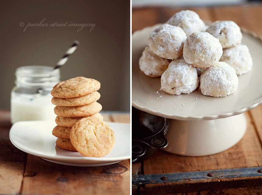 snickerdoodles and russian tea cakes