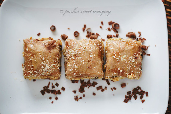 professional photo of chocolate baklava