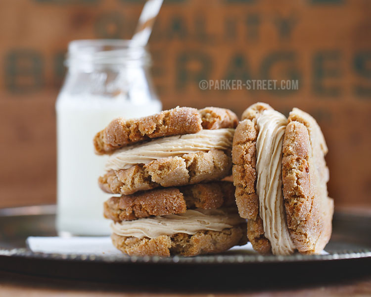 queen city cupcakes peanut butter cookie sandwich