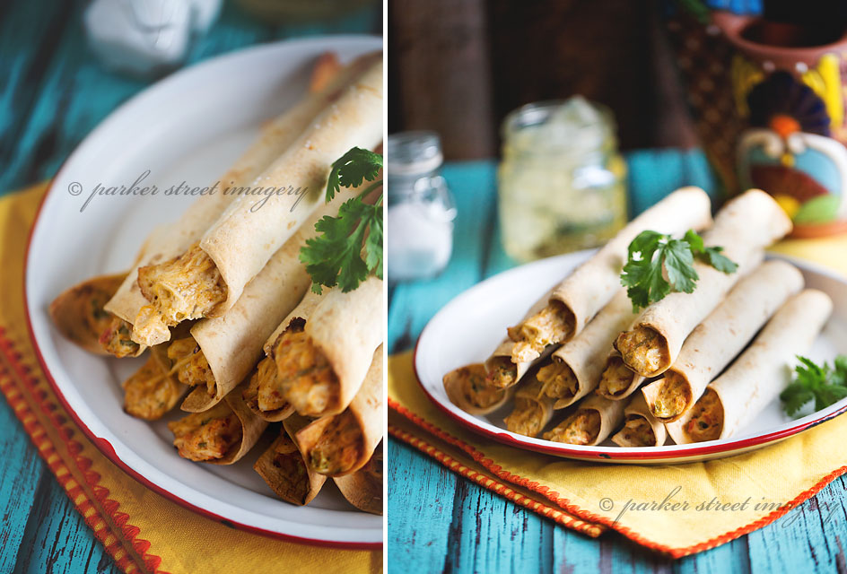 Baked Chicken & Cheese Taquitos Recipe