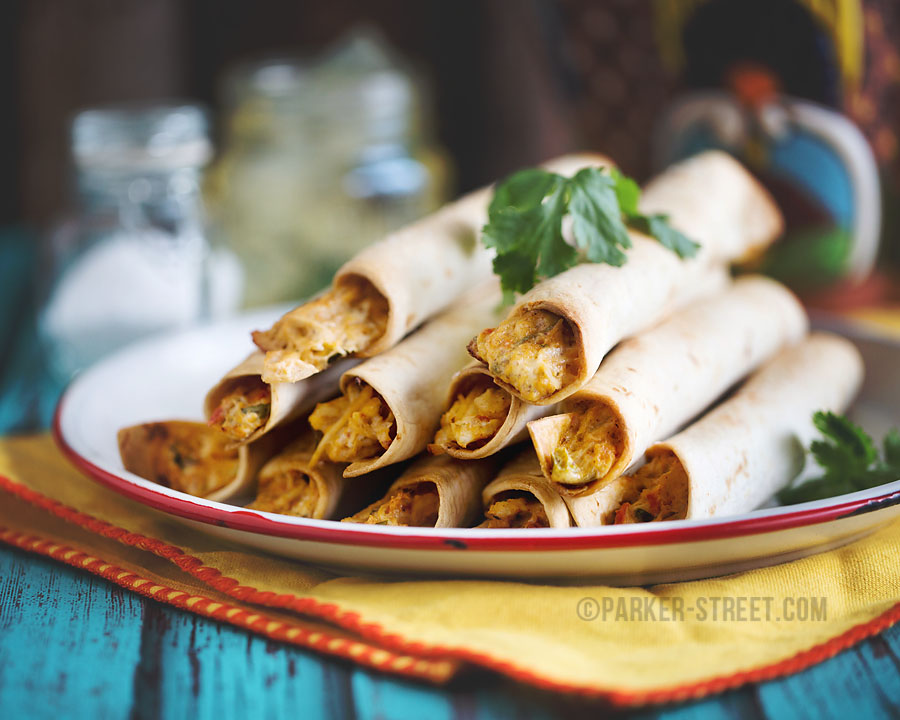 chicken & cheese baked tacquitos