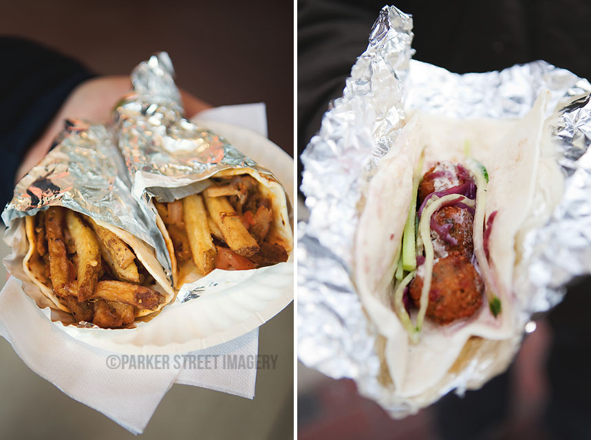 Tacos from The Gyro Spot and Republic