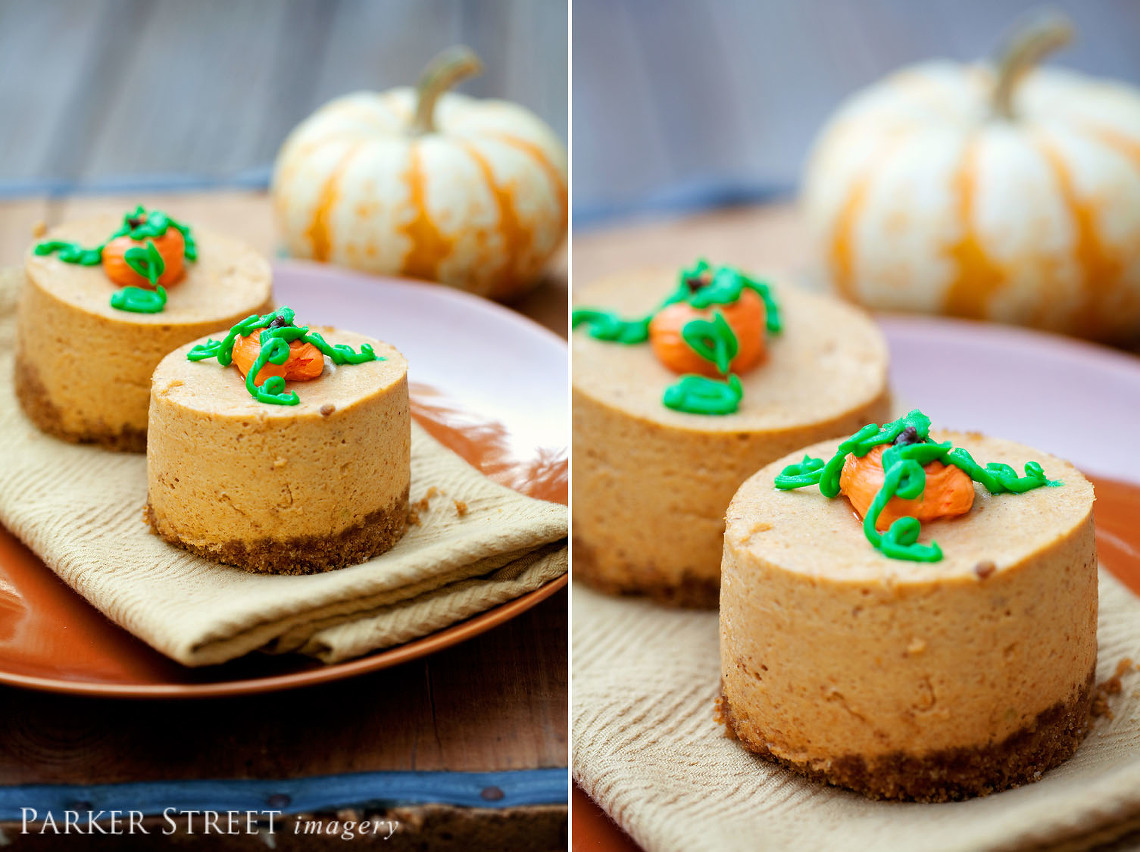 black forest cafe mini pumpkin cheesecake by parker street imagery