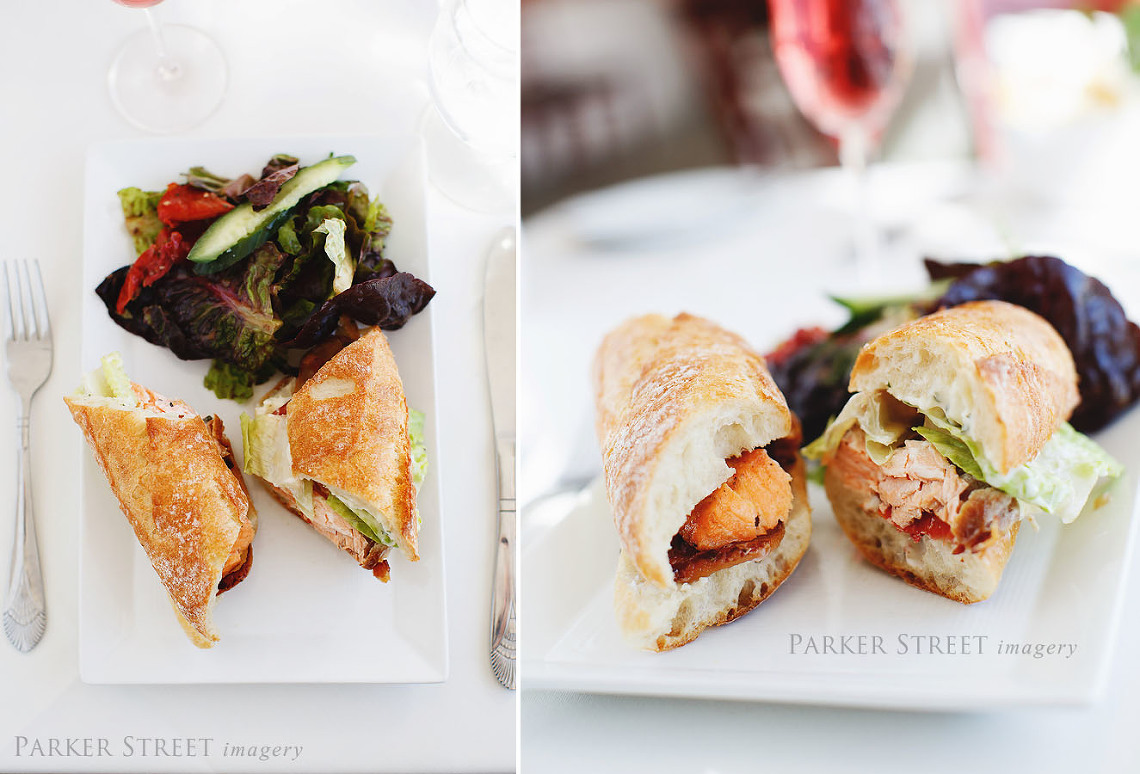 Coach House Restaurant at the New London Inn | Grilled and Chilled Salmon Club
