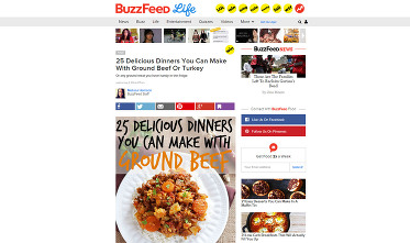 Turkey Burger recipe featured on BuzzFeed