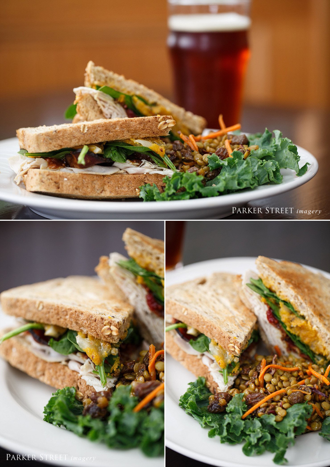 Professional photo of New England Club Sandwich| Black Forest Cafe | Amherst, NH