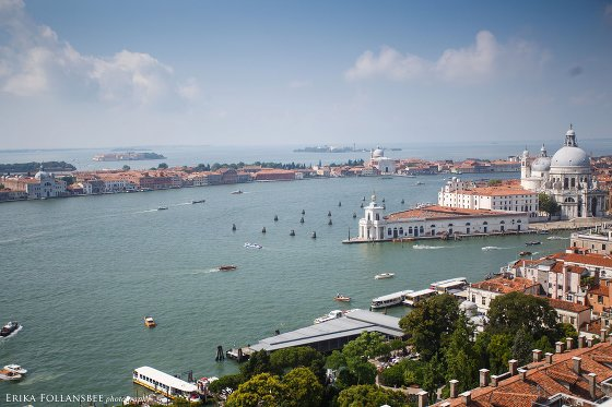 Venice's Grand Canal as seen from the campanile