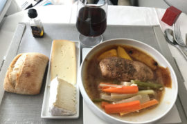 Air France Business meal CDG-BOS poultry