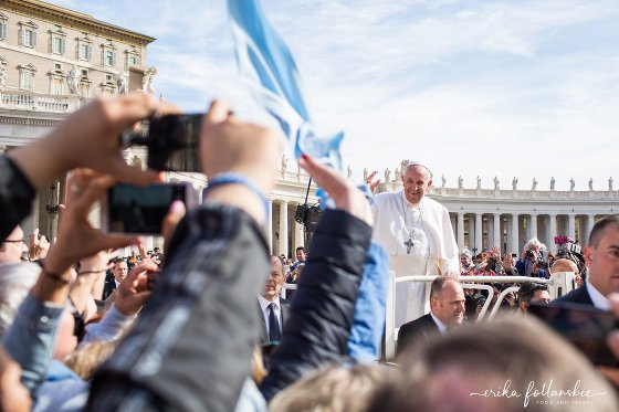 Pope Francis in St Peter's Square, Papal Audience